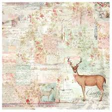 Stamperia 50 x 50cm Decoupage Rice Paper - Sweet Christmas Deer DFT328