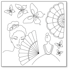 Stamperia Silhouette Art Napkin - Lady Butterfly -50x50cm - DFTM04