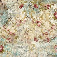 Stamperia 50 x 50cm Decoupage Rice Paper - Time is an Illusion Floral Texture DFT327