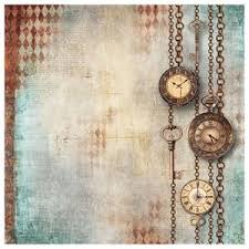Stamperia 50 x 50cm Decoupage Rice Paper - Clockwise Chains DFT338