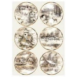 Stamperia A4 Decoupage Rice Paper -  Packed Landscapes DFSA4256