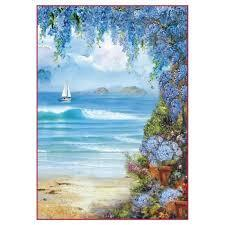 Stamperia A4 Decoupage Rice Paper -  Packed Seaside DFSA4294