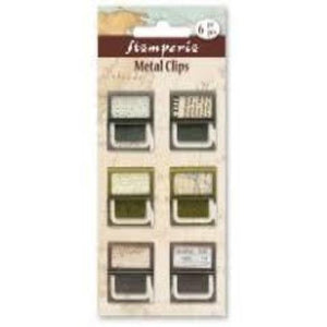 Stamperia Metal Clips Embellishments - 6 Pack - SBA286