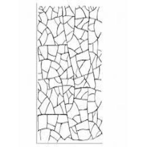 Stamperia Natural Rubber Stamps 7x11cm - Crackle - WTKCC39