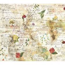 Stamperia 50 x 50cm Decoupage Rice Paper Flowers & Poems DFT017