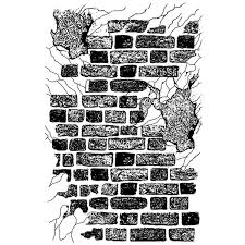 Stamperia Natural Rubber Stamps 7x11cm - Brick Wall - WTKCC108