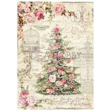 Stamperia A4 Decoupage Rice Paper - Sweet Christmas Tree DFSA4250