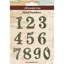 Stamperia Metal Number Embellishments - SBA342