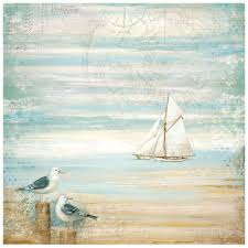 Stamperia 50 x 50cm Decoupage Rice Paper - Sea Gull DFT334