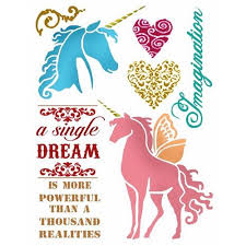 Stamperia Stencil - Flexible transparent 20x15cm - Wonderland - KSD289