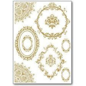 Stamperia Rub-On A5 Deco Transfer - 15x22.5cm Lace & Decors - DFTD16