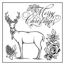 Stamperia Natural Rubber Stamps 10x10cm - Sweet Christmas Deer - WTKCC128