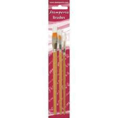 Stamperia - Set 3 Flat Tip Brushes 1/4-8-12 - KR103B