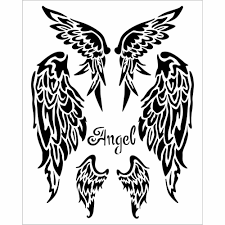 Stamperia Stencil - Thick Stencil -20 x 25cm Angel Wings KSTD036