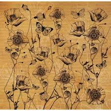 Stamperia 50 x 50cm Decoupage Rice Paper -Poppies DFT268