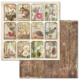 "NEW Stamperia 'Forest' - 8"" x 8"" Paper Pad SBBS506"