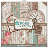 "Stamperia 'Rose and Laces and Wood' - 12"" x 12"" Paper Pad - SBBL25"