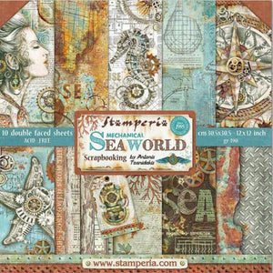 "Stamperia 'Sea World'  - 12"" x 12"" Paper Pad SBBL64"
