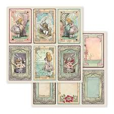 NEW Stamperia Alice in Wonderland - Alice - Double Face Paper 30 x 30 SBB584