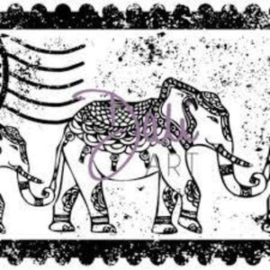 DaliART Indian Elephant Rubber Stamp