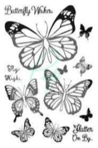 PipART- Butterfly Wishes - A6 Stamp