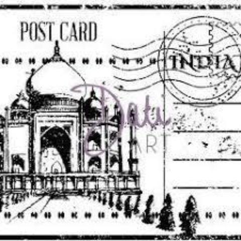 DaliART Indian Taj Mahal Post Rubber Stamp