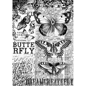 Stamperia A4 Decoupage Rice Paper - Mixed Media Butterfly DFSA4168