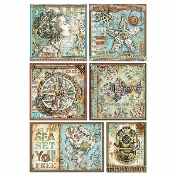 Copy of Stamperia A4 Decoupage Rice Paper -  Sea World Frames DFSA4434
