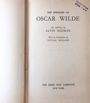 The epigrams of Oscar Wilde