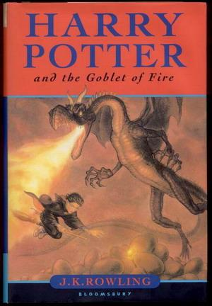 Harry Potter and the Goblet of Fire - FIRST EDITION by Rowling, J.K. הארי פוטר מהדורה ראשונה באנגלית, חדר קריאה