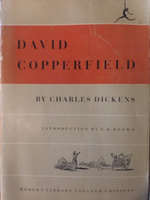 ,  David Copperfield, Charles Dickens Modern Library College Editions  Illustrations by Phiz  The United States of America, 1950  יד שניה חדר קריאה חנות לספרים ישנים וחדשים