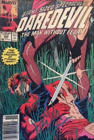 Giant-Sized Spectacular - DAREDEVIL - The Man without Fear! Marvel Comics  New York, 1988  יד שניה, חדר קריאה חנות לספרים ישנים וחדשים