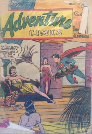 Adventure Comics - The Boy of Steel in Superboy and Cleopatra  No. 183  December 1952  National Comics  New York, 1952  יד שניה, חדר קריאה חנות לספרים ישנים וחדשים