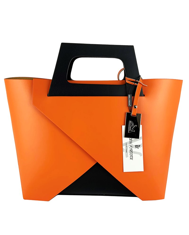 Håndlavet læder shopping bag - 2883