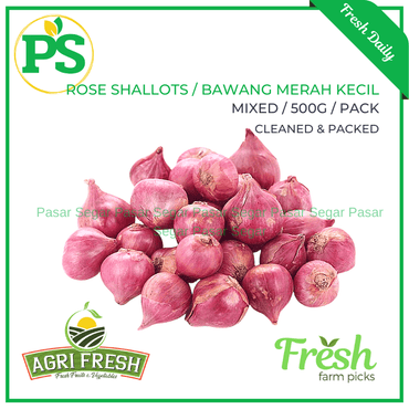 Red Onions / Bawang Merah (500grams - Peeled) - Pasar Segar | The Fresh Market