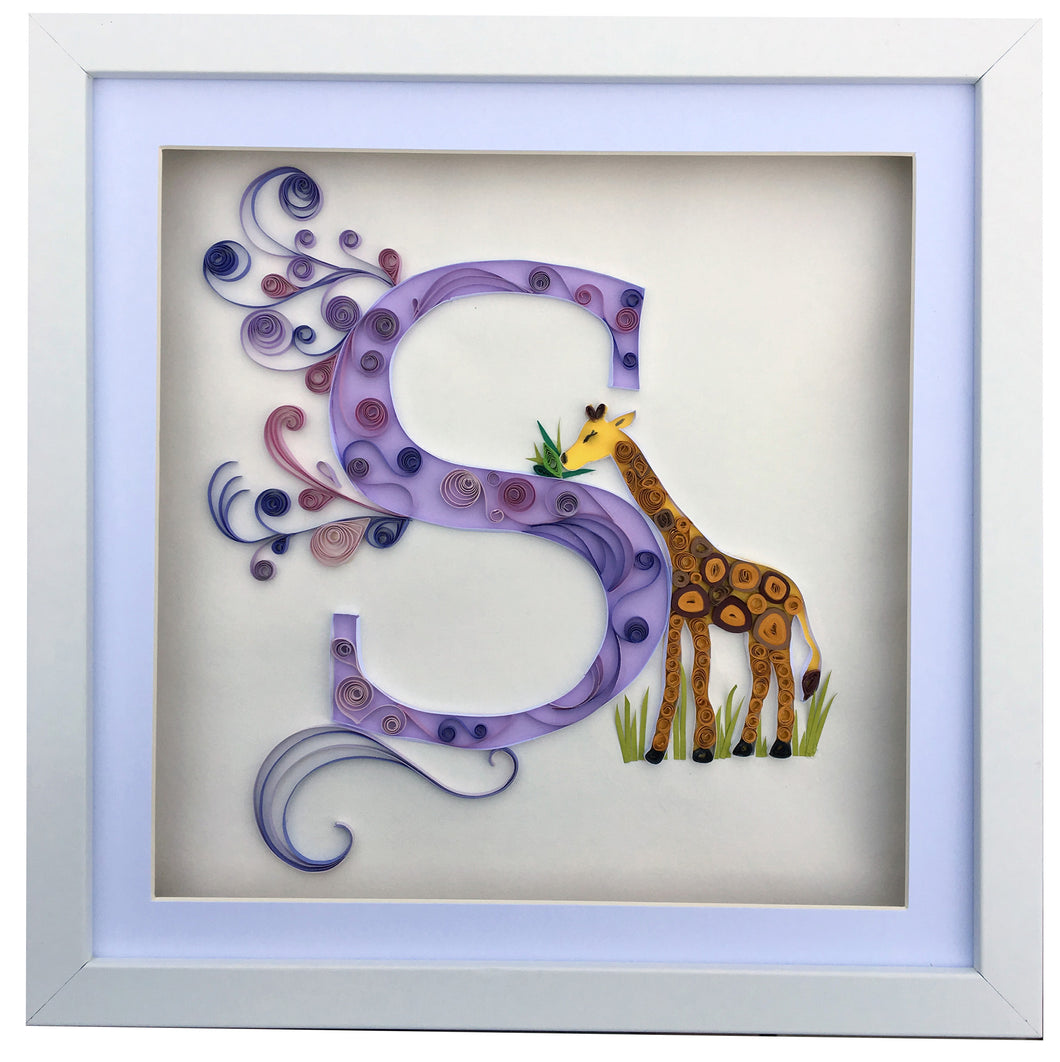 Giraffe with initial