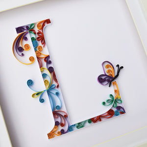 Personalised initial with additional detail