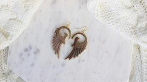 Abalone shell Angel wing earrings