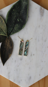 Abalone rectangle earrings
