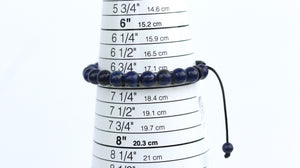 Lapis Lazuli men beaded bracelet/polished/