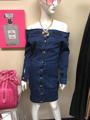 Jessica Bodycon Denim Dress