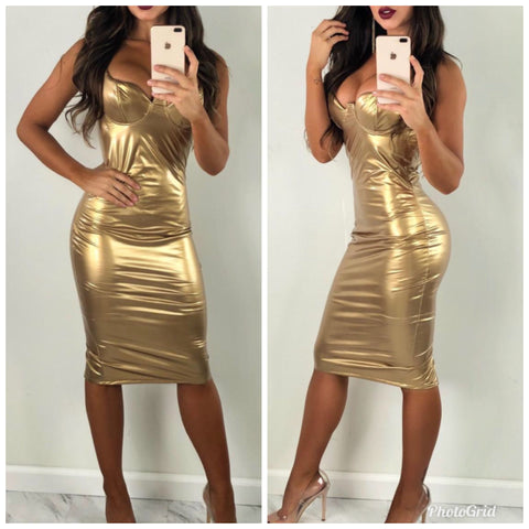 Gold Shimmy Dress