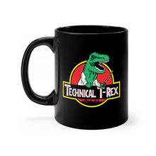 Technical T-Rex - Black mug 11oz