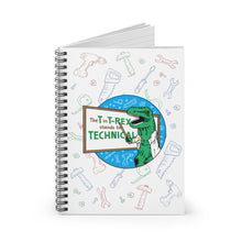 WhiteBoard T-Rex - Spiral Notebook Ruled Line