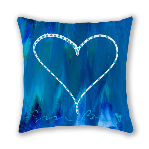 Love On An Ocean Of Blue Pillow