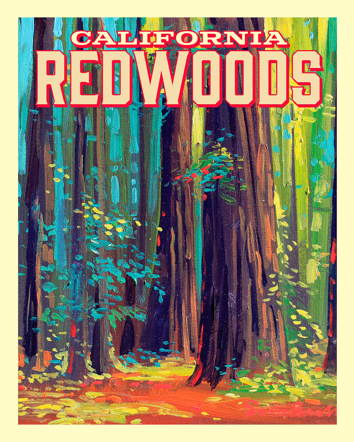 California Redwoods - Travel Poster