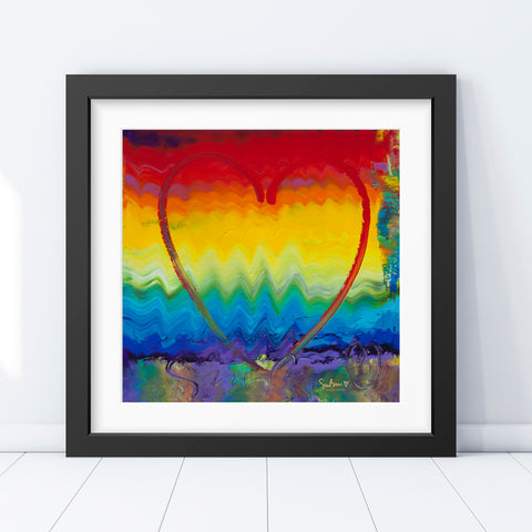Colors of Love - Vintage Print