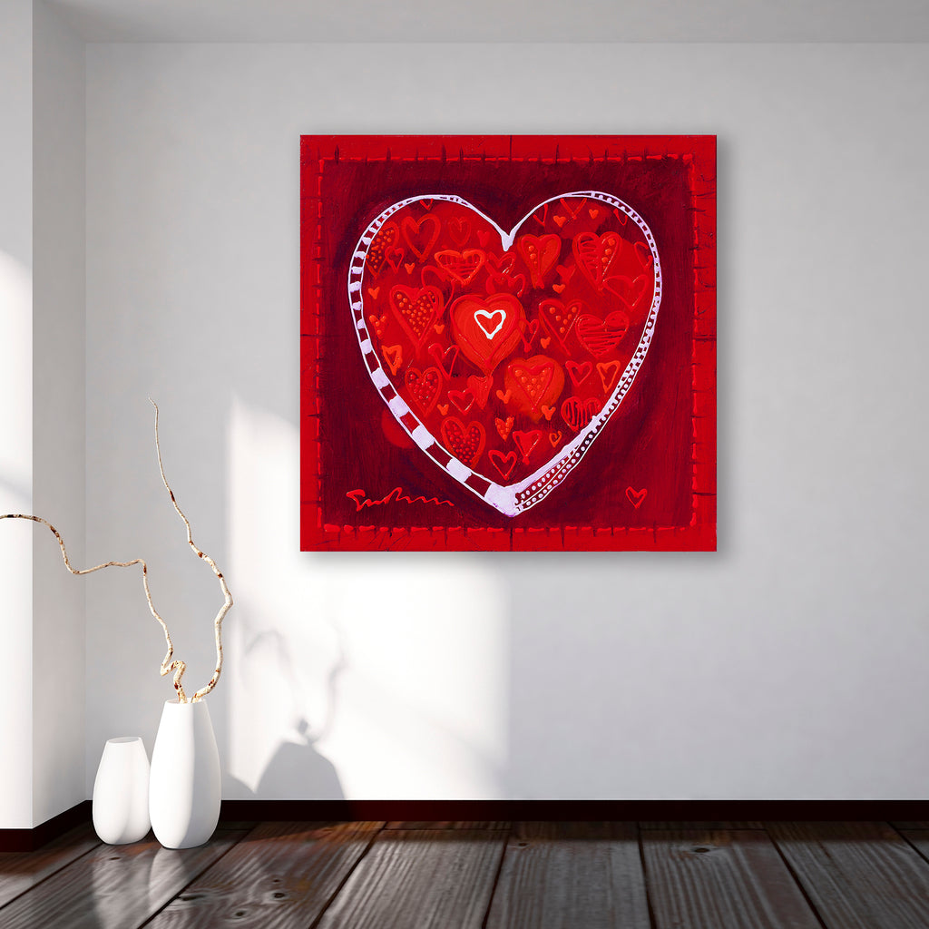Hearts of Love - Canvas