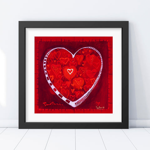Hearts of Love - Vintage Print