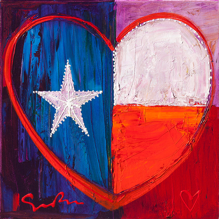 I Love Texas - Canvas
